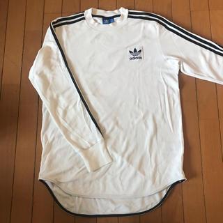 アディダス(adidas)の希少☆adidas ロンT L 白×黒(Tシャツ/カットソー(七分/長袖))