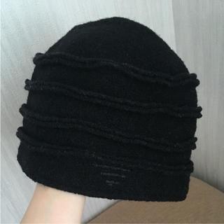 エンポリオアルマーニ(Emporio Armani)の美品EMPORIO ARMANI ニット帽(ニット帽/ビーニー)