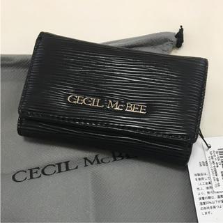 セシルマクビー(CECIL McBEE)の新品 セシルマクビー キーケース ブラック 黒(キーケース)