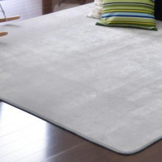 3畳タイプ フランネルラグ シルバー 防ダニ 洗える(ラグ)
