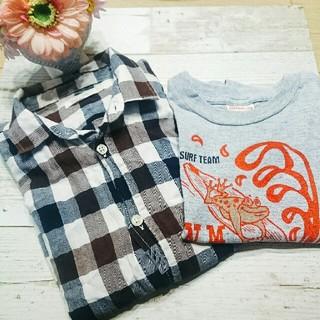 ザラ(ZARA)の期間限定♥男児♥チェックシャツ&tシャツ(Tシャツ/カットソー)