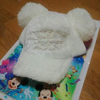 ディズニー(Disney)の【ポチさん専用!】ディズニー ポンポンキャップ ホワイト(キャップ)