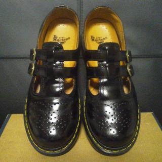 ドクターマーチン(Dr.Martens)のDr.Martens メリージェーン UK6 黒 刻印あり(ローファー/革靴)