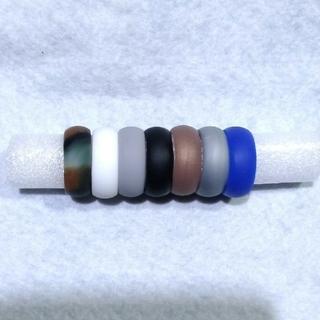 【メンズ】シリコンリング(指輪)7色セット24号(リング(指輪))