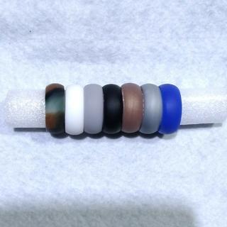 【メンズ】シリコンリング(指輪)7色セット27号(リング(指輪))