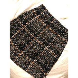 アンティックラグ(antic rag)の厚手 膝上 タイトスカート(ひざ丈スカート)