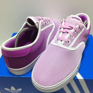 アディダス(adidas)の新品未使用 アディダス スニーカー 24.5 パープル 靴 レディース 靴(スニーカー)