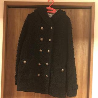 アルゴンキン(ALGONQUINS)のモコモコフード付きコート(毛皮/ファーコート)