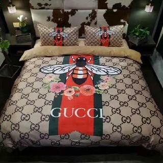 グッチ(Gucci)の新品!寝具2枚枕カバー*4点セット 掛け布団カバー*ベッドシーツ (シーツ/カバー)