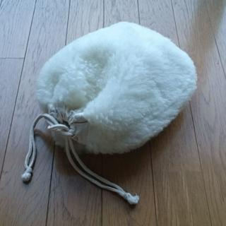 ふわふわ湯たんぽカバー羊毛100%ボア 新品未使用(日用品/生活雑貨)