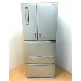 トウシバ(東芝)の冷蔵庫 東芝 シャンパンシルバー 6ドア ファミリータイプ ピコイオン(冷蔵庫)