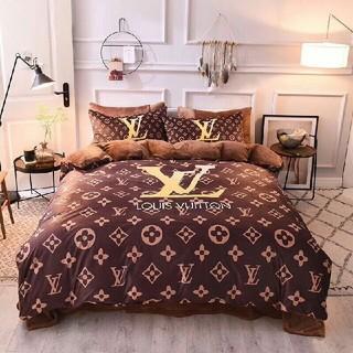 ルイヴィトン(LOUIS VUITTON)のLV寝具カバー 4点セット 掛け布団カバー おしゃれ(シーツ/カバー)