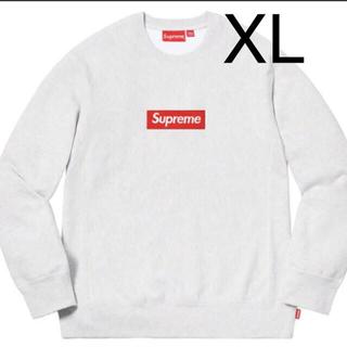 シュプリーム(Supreme)のsupreme box logo crewneck 18 グレー ボックスロゴ(スウェット)
