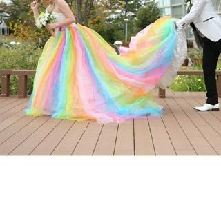 オーバードレス レインボー(ウェディングドレス)