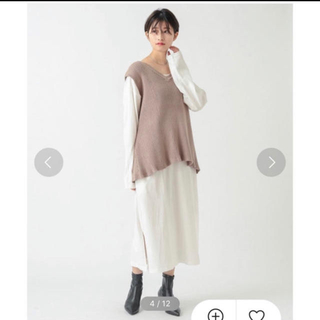 ミスティック(mystic)のコットンスカート♡ベスト(ひざ丈ワンピース)