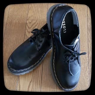 シマムラ(しまむら)の【新品未使用】ドクターマーチン 風 3ホールレースアップシューズ Mサイズ(ローファー/革靴)