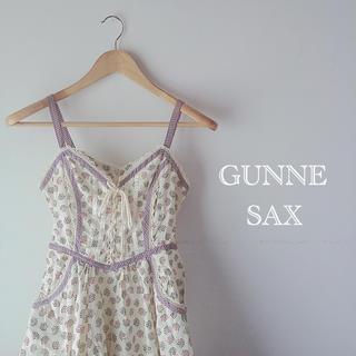 ガニーサックス(GUNNE SAX)の35* Vintage GUNNE SAX ワンピース ドレス 編み上げ(ロングワンピース/マキシワンピース)