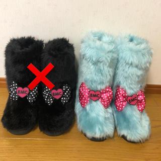 アースマジック(EARTHMAGIC)のアースマジック♡リボンファーブーツ♡新品未使用(ブーツ)