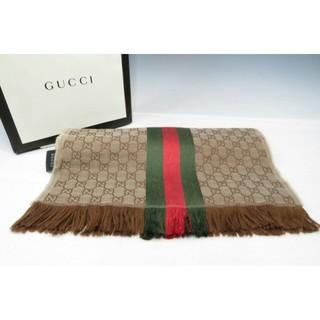 グッチ(Gucci)のグッチ シルク/ウール シェリーライン GG柄 ストール/マフラー 紙袋あり(マフラー)