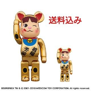 BE@RBRICK 招き猫ペコちゃん 金メッキ 弐 100% & 400%