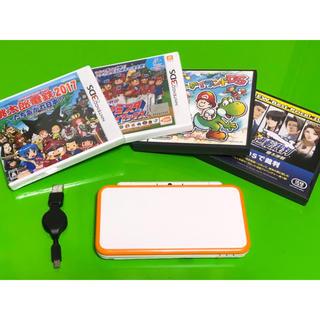 ニンテンドー2DS(ニンテンドー2DS)のニンテンドー2DSLL オレンジ×ホワイト(携帯用ゲーム本体)