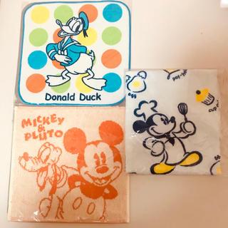 ディズニー(Disney)の新品 ディズニー ミッキーマウス ミニタオル 3枚セット(キャラクターグッズ)