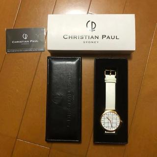 クリスチャンポー(CHRISTIAN PEAU)のCHRISTIAN PAUL 腕時計 42mm ゴールド 白(腕時計(アナログ))