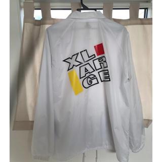 エクストララージ(XLARGE)のX-LARGE コーチジャケット L ホワイト(ナイロンジャケット)
