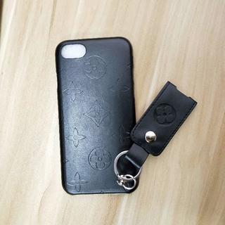 ルイヴィトン(LOUIS VUITTON)のルイヴィトンのiPhone 7/8ブラック電話ケース(iPhoneケース)