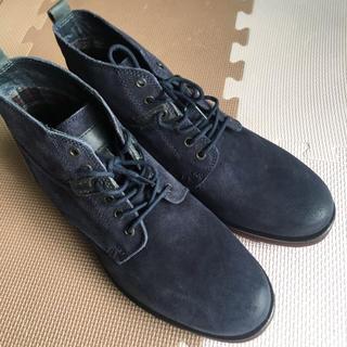 ステファノビジ(STEFANOBIGI)の未着用ステファノロッシメンズブーツスエードネイビー42(ブーツ)