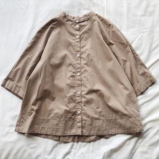 無印良品 オーガニックコットン洗いざらしスタンダードシャツ