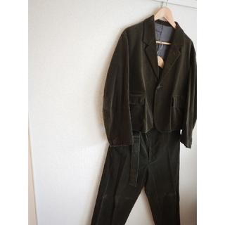 アンユーズド(UNUSED)のuru tokyo ショートジャケット ベルトワイドパンツ セットアップ ベロア(テーラードジャケット)