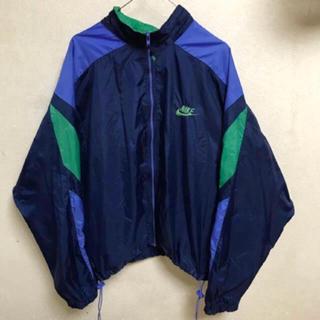 ナイキ(NIKE)の90s NIKE ナイロンジャケット マルチカラー 古着 ビンテージ ロゴ(ナイロンジャケット)
