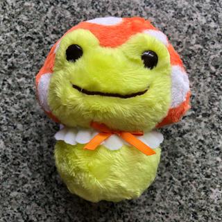 かえるのピクルス  きのこダルマ  オレンジ(ぬいぐるみ)