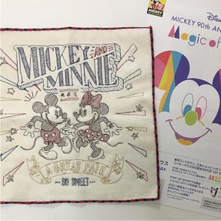 ディズニー(Disney)のミッキー90周年アニバーサリー❤️ハンカチ(キャラクターグッズ)