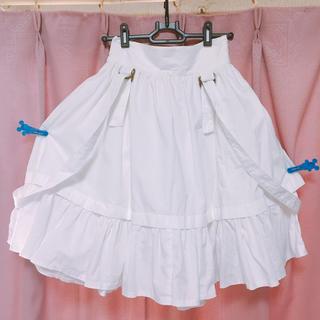 アトリエボズ(ATELIER BOZ)のアトリエBOZ サスペンダー付きスカート(ひざ丈スカート)
