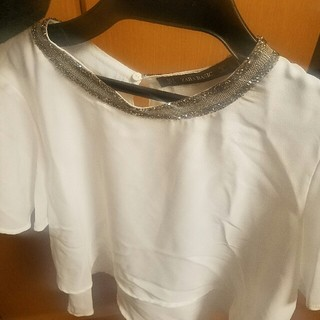 ザラ(ZARA)のZARABASIC ブラウス トップス 新品 未使用(シャツ/ブラウス(半袖/袖なし))