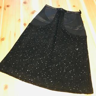 ツモリチサト(TSUMORI CHISATO)の専用♡ツモリチサト スパンコールツイードスカート(ひざ丈スカート)