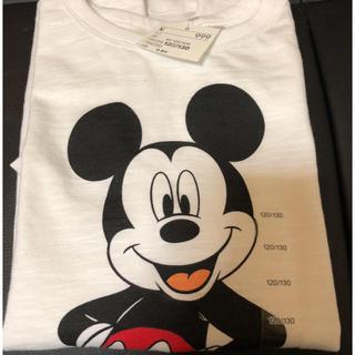 エイチアンドエム(H&M)の未使用タグ付き H&M ディズニー ミッキーマウスTシャツ(Tシャツ/カットソー)