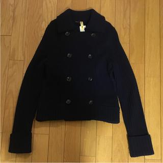 ニジュウサンク(23区)のダッフィー様用23区♪Pコート風ニットジャケット(ニットコート)