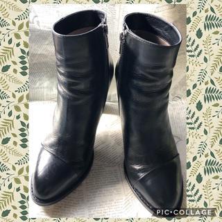 aquagirl アクアガール レザーショートブーツ 黒36