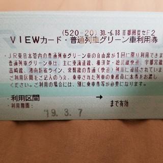 ジェイアール(JR)の普通列車グリーン車利用券10枚(その他)