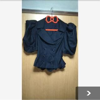 アリスアウアア(alice auaa)のalice auaaボリュームパフスリーブジャケット ボリューム袖半袖ジャケット(テーラードジャケット)
