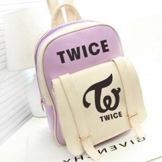 大人気 TWICE リュック パープル トワイス トゥワイス バッグ カバン 鞄(アイドルグッズ)