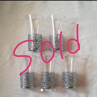 トウヨウササキガラス(東洋佐々木ガラス)の他サイトにてご成約! 未使用 佐々木ガラス レトログラス5本セット(グラス/カップ)