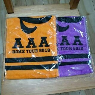 トリプルエー(AAA)のAAA マフラータオル オレンジ&パープル(ミュージシャン)