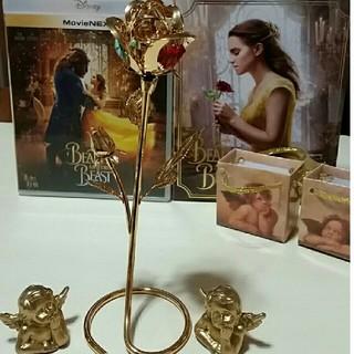 ディズニー(Disney)の美女と野獣Blu-ray&ゴールド色バラ&天使セット(全巻セット)