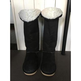 ムジルシリョウヒン(MUJI (無印良品))の無印良品ムートンロングブーツブラック(ブーツ)