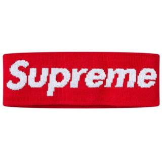 シュプリーム(Supreme)のsupremeヘアバンド赤(ヘアバンド)