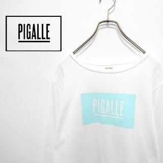 ピガール(PIGALLE)のPIGALLE ピガール ボックスロゴロンT 長袖カットソー 長袖Tシャツ(Tシャツ/カットソー(七分/長袖))
